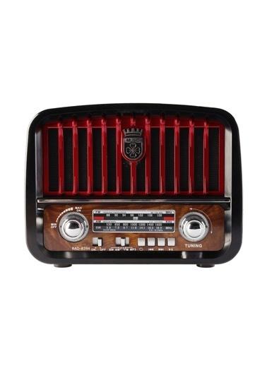 MF Product MF Product Acoustic 0187 Retro Fenerli Kablosuz Radyolu tooth Hoparlör Siyah